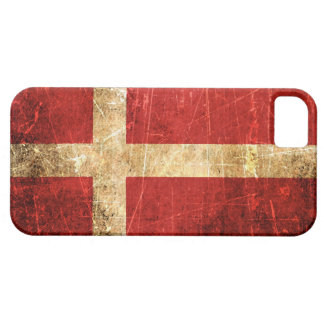 Scratched and Worn Vintage Danish Flag iPhone SE/5/5s Case