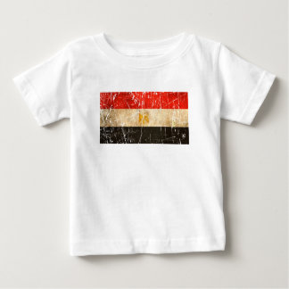 Scratched and Worn Vintage Egyptian Flag T Shirt