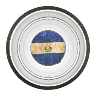 Scratched and Worn Vintage El Salvador Flag Pet Bowl