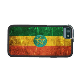 Scratched and Worn Vintage Ethiopian Flag iPhone 5/5S Cover