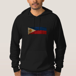 Scratched and Worn Vintage Filipino Flag Hoodie