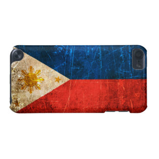 Scratched and Worn Vintage Filipino Flag iPod Touch (5th Generation) Case