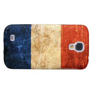 Scratched and Worn Vintage French Flag Galaxy S4 Cover