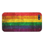 Scratched and Worn Vintage Gay Pride Rainbow Flag iPhone 5/5S Case