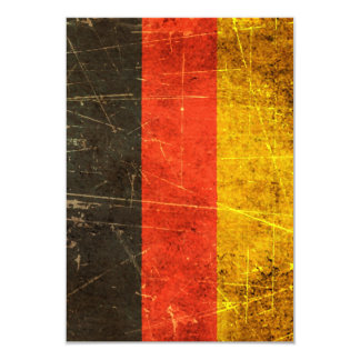 Scratched and Worn Vintage German Flag Card