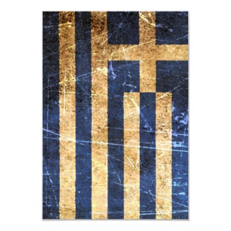 Scratched and Worn Vintage Greek Flag Personalized Invitation