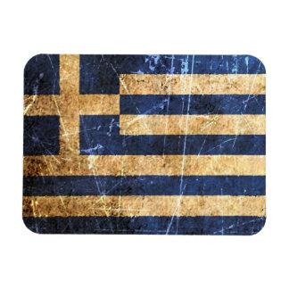 Scratched and Worn Vintage Greek Flag Vinyl Magnets