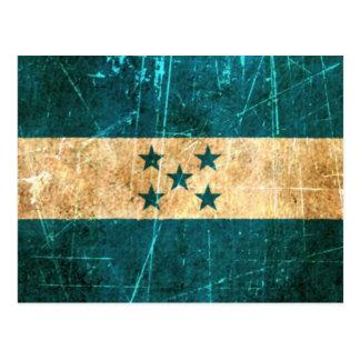 Scratched and Worn Vintage Honduras Flag Postcard