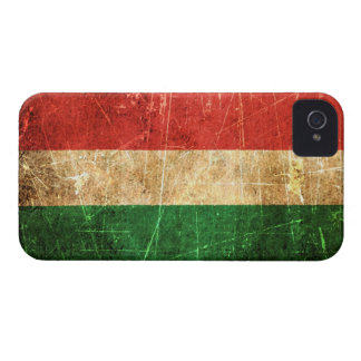 Scratched and Worn Vintage Hungarian Flag Case-Mate iPhone 4 Case