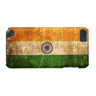 Scratched and Worn Vintage Indian Flag iPod Touch (5th Generation) Case