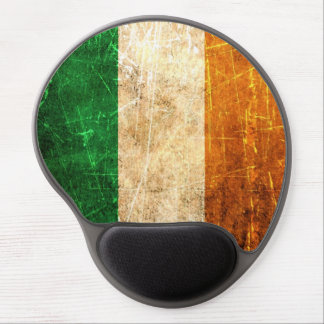 Scratched and Worn Vintage Irish Flag Gel Mouse Pad