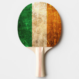 Scratched and Worn Vintage Irish Flag Ping Pong Paddle