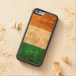 Scratched and Worn Vintage Irish Flag Carved® Maple iPhone 6 Bumper