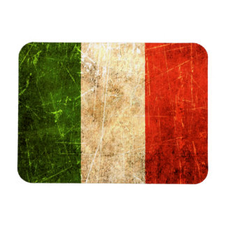 Scratched and Worn Vintage Italian Flag Rectangular Magnet