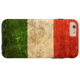 Scratched and Worn Vintage Italian Flag Tough iPhone 6 Plus Case