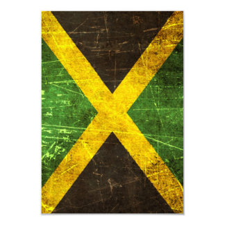 Scratched and Worn Vintage Jamaican Flag Card