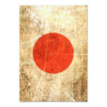 """Scratched and Worn Vintage Japanese Flag 3.5"""" X 5"""" Invitation Card"""