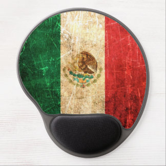 Scratched and Worn Vintage Mexican Flag Gel Mouse Pad