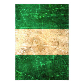 Scratched and Worn Vintage Nigerian Flag Custom Invites