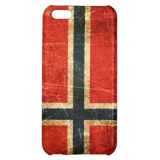 Scratched and Worn Vintage Norwegian Flag iPhone 5C Covers
