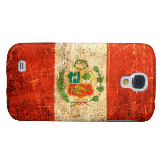 Scratched and Worn Vintage Peruvian Flag Samsung Galaxy S4 Cases