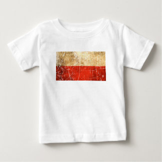 Scratched and Worn Vintage Polish Flag T-shirt