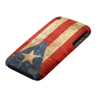 Scratched and Worn Vintage Puerto Rican Flag iPhone 3 Cover