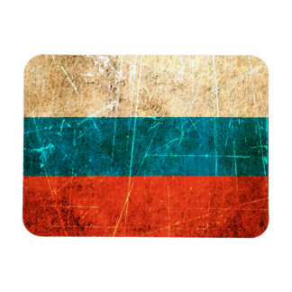 Scratched and Worn Vintage Russian Flag Magnet