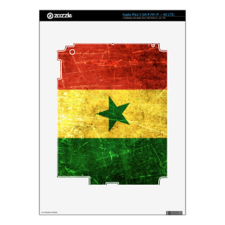 Scratched and Worn Vintage Senegal Flag iPad 3 Decals