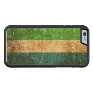 Scratched and Worn Vintage Sierra Leone Flag Carved Maple iPhone 6 Bumper Case