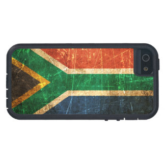 Scratched and Worn Vintage South African Flag Case For iPhone SE/5/5s