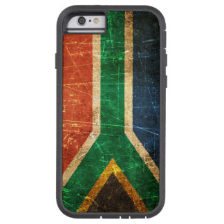 Scratched and Worn Vintage South African Flag Tough Xtreme iPhone 6 Case