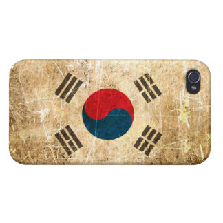 Scratched and Worn Vintage South Korean Flag iPhone 4/4S Cover