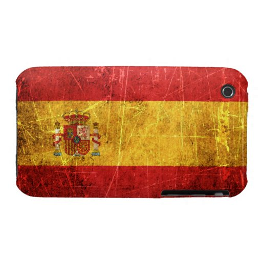 Scratched and Worn Vintage Spanish Flag iPhone 3 Case-Mate Case
