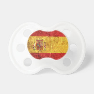 Scratched and Worn Vintage Spanish Flag Pacifier