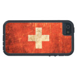 Scratched and Worn Vintage Swiss Flag iPhone 5 Case