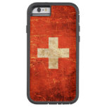 Scratched and Worn Vintage Swiss Flag Tough Xtreme iPhone 6 Case