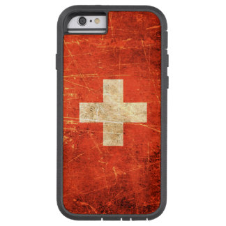 Scratched and Worn Vintage Swiss Flag iPhone 6 Case