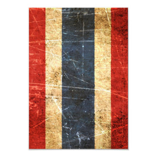 "Scratched and Worn Vintage Thai Flag 3.5"" X 5"" Invitation Card"