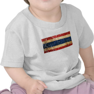Scratched and Worn Vintage Thai Flag T-shirt