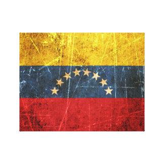 Scratched and Worn Vintage Venezuelan Flag Canvas Print
