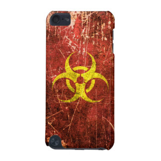 Scratched and Worn Yellow and Red Biohazard Symbol iPod Touch (5th Generation) Cover