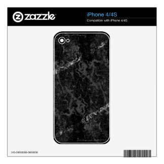 Scratched black wall with white stripes skins for the iPhone 4S