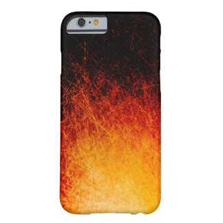 Scratched bonfire flames barely there iPhone 6 case