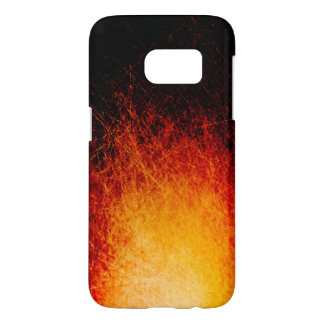 Scratched bonfire flames samsung galaxy s7 case