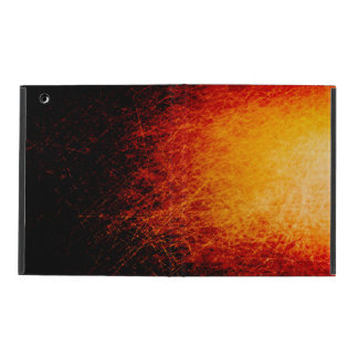 Scratched bonfire sparks and flames iPad case