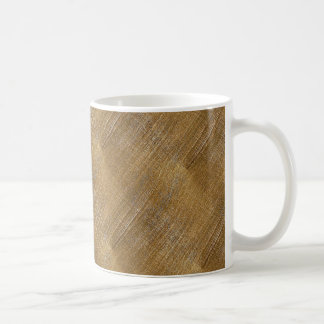 Scratched Brushed Gold Metal Look Coffee Mug