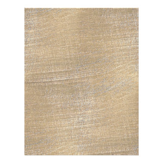 Scratched Brushed Gold Metal Look Letterhead