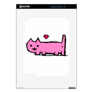 Scratched cat skins for iPad 2