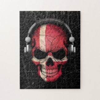Scratched Danish Dj Skull with Headphones Puzzle